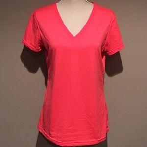 Nike Dri-Fit Workout Shirt Neon Coral
